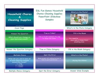 Household Chores-Cleaning Supplies PowerPoint Slideshow