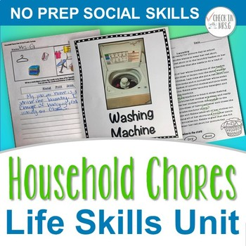 household chores unit life skills by check in with mrs g tpt