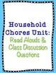 Household Chores Unit Life Skills