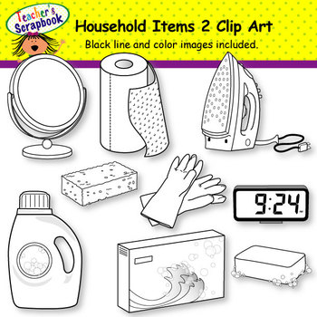 Household Items 2 Clip Art