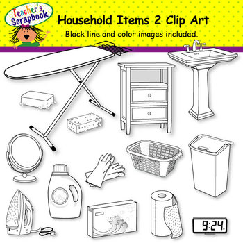 Household Items Clip Art BUNDLE