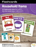 Household Items Flashcards / Set of 30 / Printable