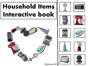 Household Items Matching Interactive Book