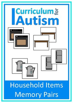 Household Items Memory Pairs Game Autism