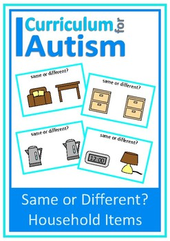 Household Items Same Different Visual Discrimination, Autism, Special Education