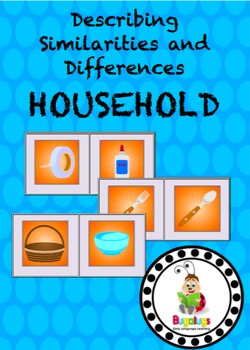 Household Items Similarities and Differences Spinning Wheel Semantics Game