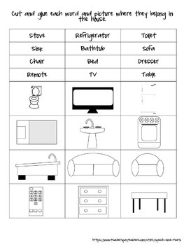 Categories: Household Items Sort