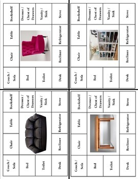 Household Items Vocabulary Bundle