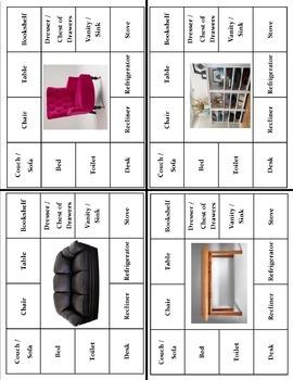Household Items Vocabulary Bundle