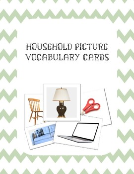 Household Items Vocabulary Cards