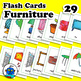 Furniture Flash Cards - Home Furnishings Vocabulary Cards - English Word Wall