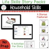 Household Skills Digital Story Packs  (Boom Learning Included)