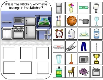 Household Sorting Interactive Book and Activities
