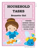 Household Tasks Chores Visual Schedule Posters Social Story Girl Life Skills