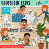 Household Tasks Clipart | Secondary Kids Daily Chores and