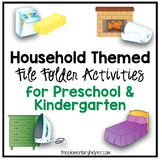 Household Themed File Folder Activities for Preschool and