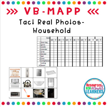 Household Themed Real Picture Cards Aligned to VB-MAPP