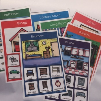Household Vocabulary Bundle- Interactive Books and Category Sorting