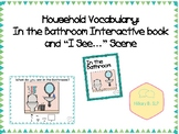 "Household Vocabulary: In the Bathroom Interactive Book and ""I See..."" Scene"