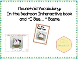 "Household Vocabulary: In the Bedroom Interactive book and ""I See..."" Scene"
