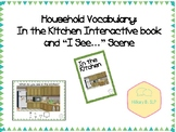 "Household Vocabulary: In the Kitchen Interactive book and ""I See..."" scene"