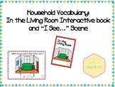 "Household Vocabulary: In the Living Room Interactive Book and ""I See..."" Scene"