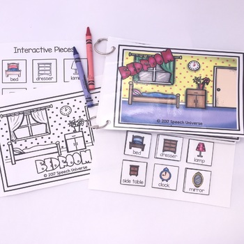 Household Vocabulary Interactive Books