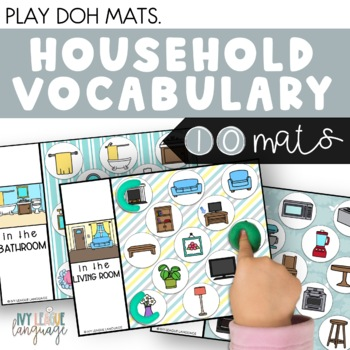 Household Vocabulary Play Dough Mats