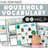 Household Vocabulary Play Dough Mats