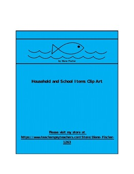 Household and School Items Clip Art