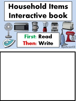 Household items interactive book