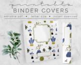 Houseplants #1 BINDER COVER | Google Slides Template | DIY