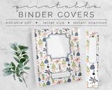 Houseplants #2 BINDER COVER | Google Slides Template | DIY