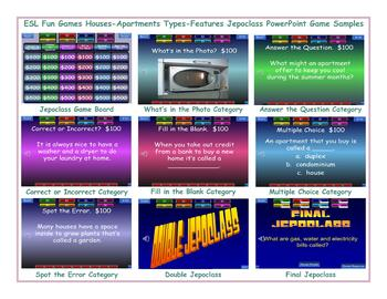Houses-Apartments Types-Features Jeopardy PowerPoint Game