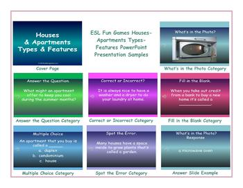Houses-Apartments Types-Features PowerPoint Presentation