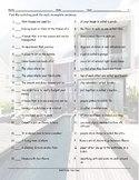 Houses-Apartments Types-Features Sentence Match Worksheet