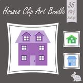 House Home Clip Art  Town Street Road Bundle Clipart Image