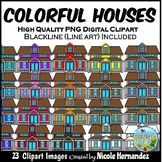 Houses Clip Art for Personal and Commercial Use