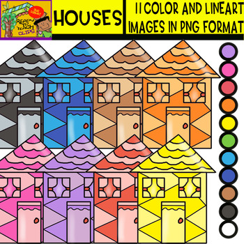 Houses - Cliparts Set - 11 Items