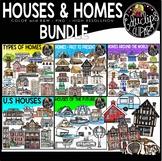 Houses & Homes Clip Art Bundle {Educlips Clipart}