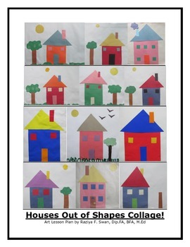 Houses Out of Shapes Collage!