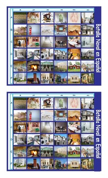 Houses and Apartments Types-Features Spanish Legal Size Photo Battleship Game