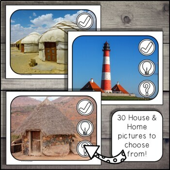 Houses and Homes -  Critical Thinking Routine - I See, I Think, I Wonder