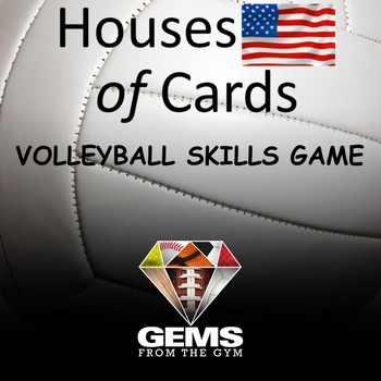 Houses of Cards Volleyball Skills Physical Education Game!