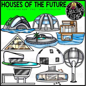 Houses of the Future Clip Art Set {Educlips Clipart}