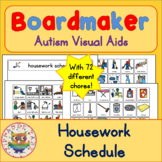 Housework Chores Schedule and 70 Symbols - Boardmaker Visual Aids for Autism