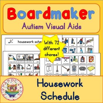 Housework Chores Schedule and 70 Symbols - Boardmaker Visu