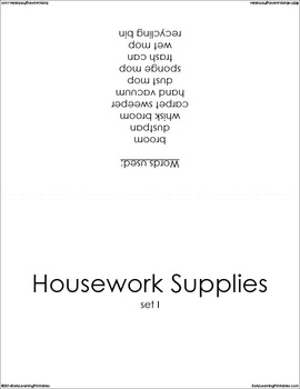 Housework Supplies (set I) Picture Flashcards