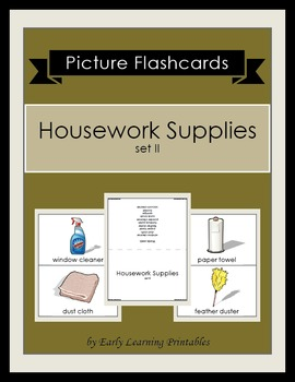 Housework Supplies (set II) Picture Flashcards