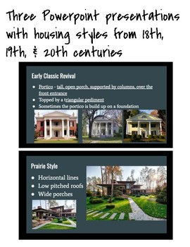 Housing Styles: Presentations and Project